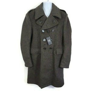 Burberry Brit Wool Military Double Breasted Coat